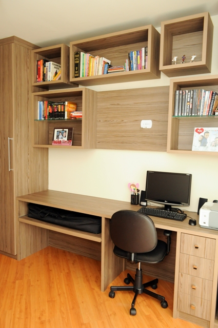 Escrit rio funcional design de interiores jaqueline ribeiro - Escritorio pared ...